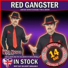 FANCY DRESS ACCESSORY # MENS 1920's RED GANGSTER INSTANT DRESS UP KIT